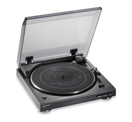 Marketing photo shows a top, left angle view of the Audio-Technica AT-LP2D-USB turntable.