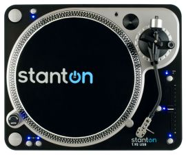 Marketing photo shows the Stanton T.92 USB Turntable from above.
