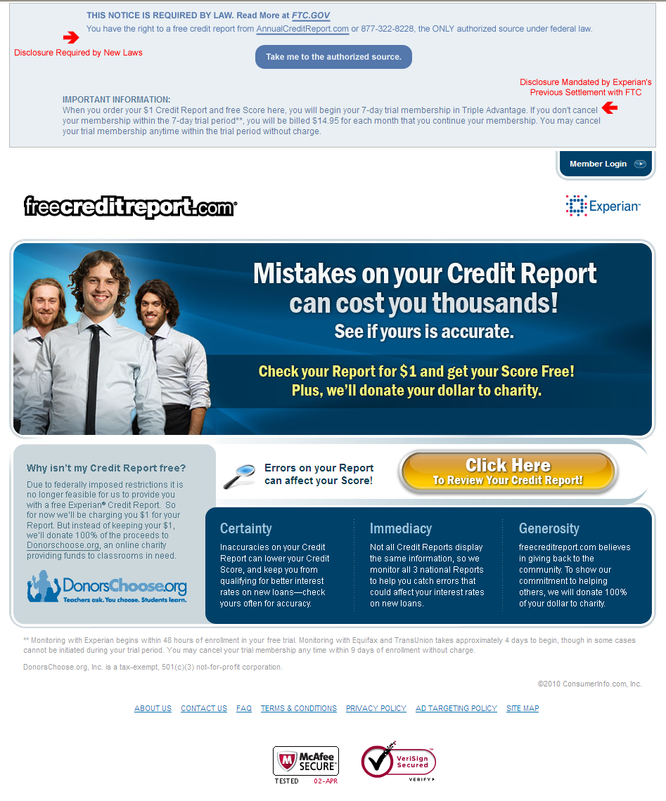 articles free credit reports