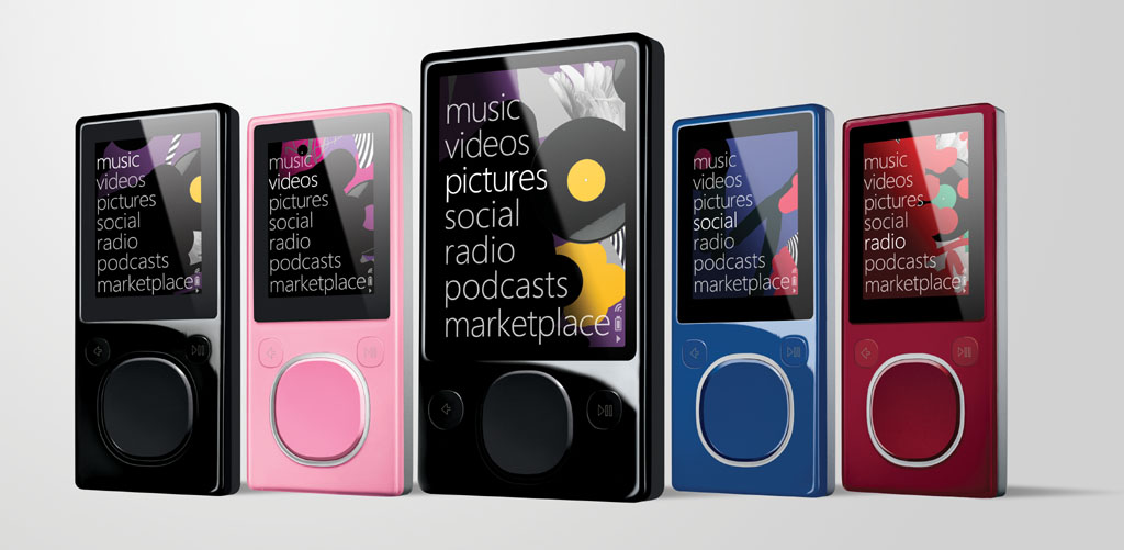 Line-up of Microsoft Zune media players. Free McDonald's Wi-Fi for Zune ...